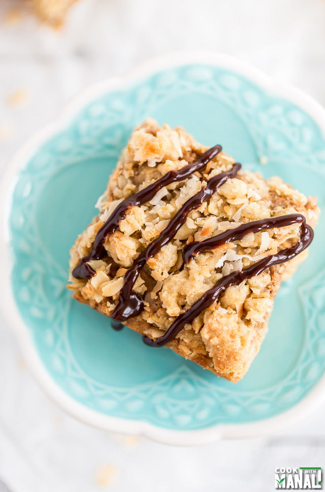 Toasted Coconut Peanut Butter Oatmeal Bars