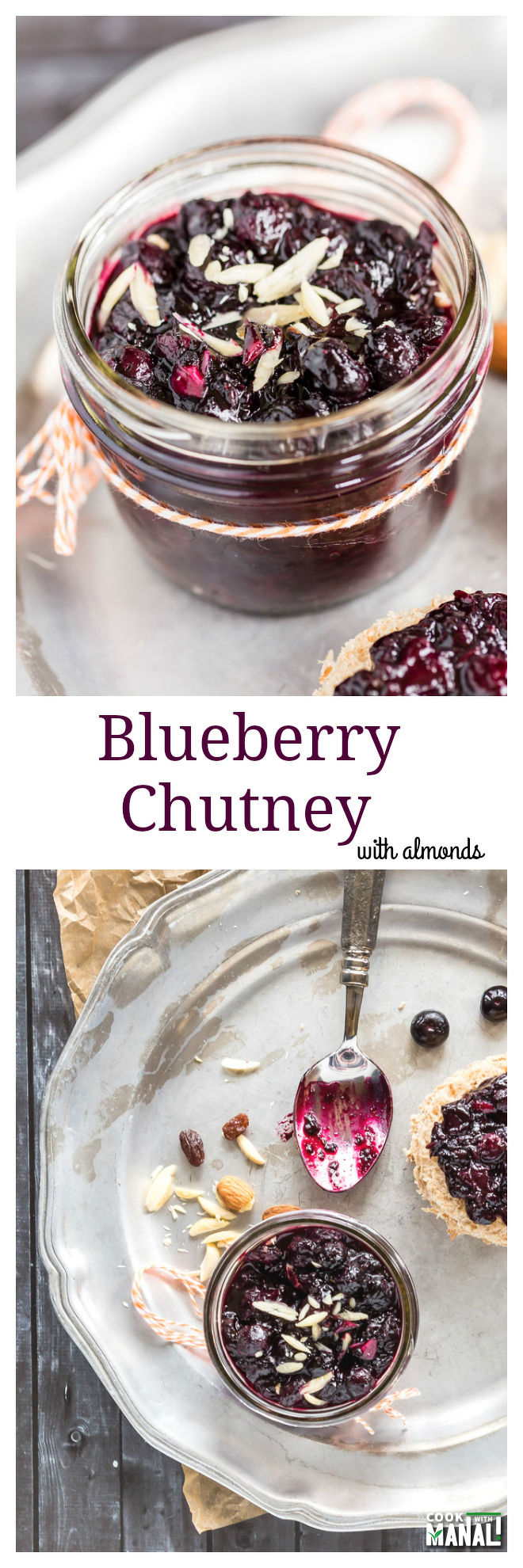 Blueberry Chutney with Almonds Collage