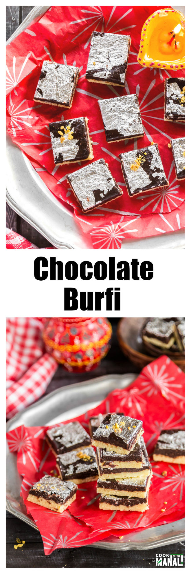 Chocolate Burfi Collage