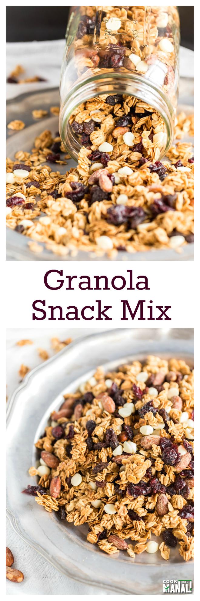 Granola Snack Mix Collage
