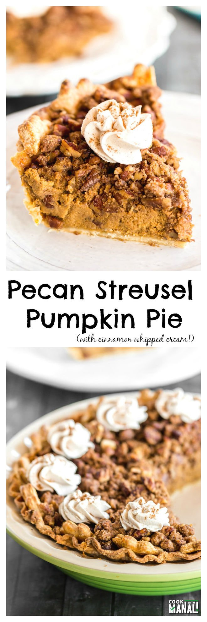 Pecan Streusel Pumpkin Pie Collage