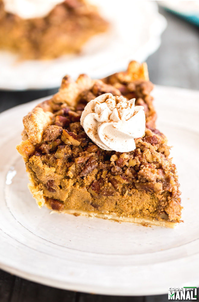 Pecan Streusel Pumpkin Pie Recipe