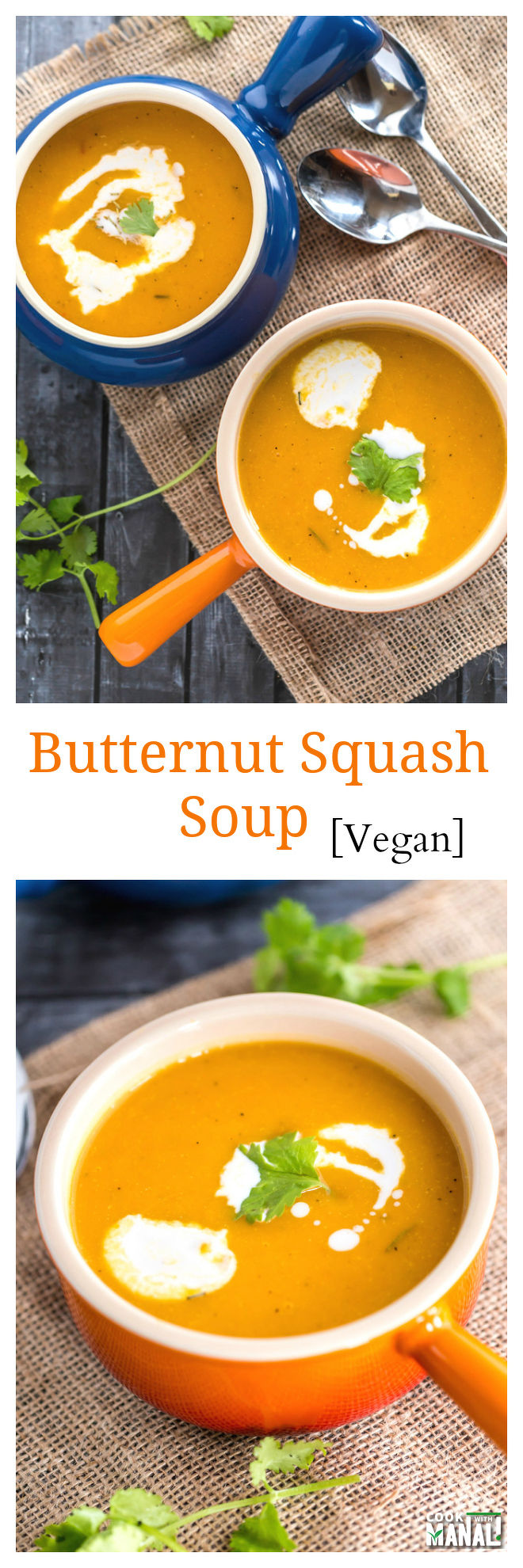 Vegan Butternut Squash Soup Collage