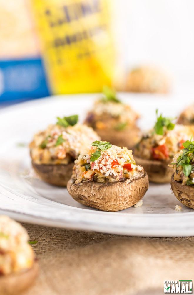 Veggie Stuffed Mushrooms