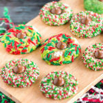 Christmas Kiss Cookies