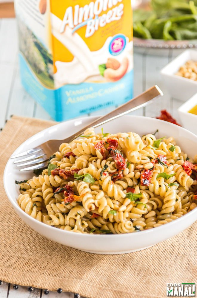 Spinach Sun Dried Tomato Pasta