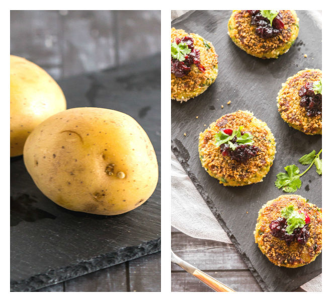 Vegetarian Potato Cakes with Cranberry Orange Chutney Recipe