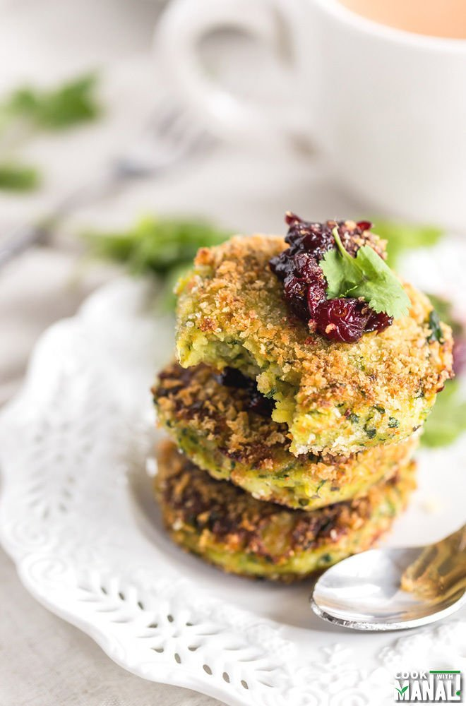 Vegetarian Potato Cakes with Cranberry Orange Chutney