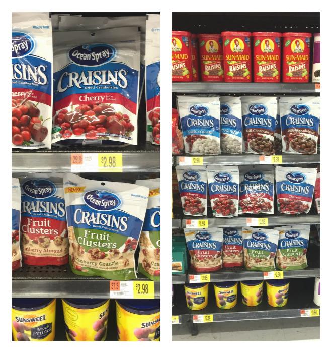 Craisins at Walmart