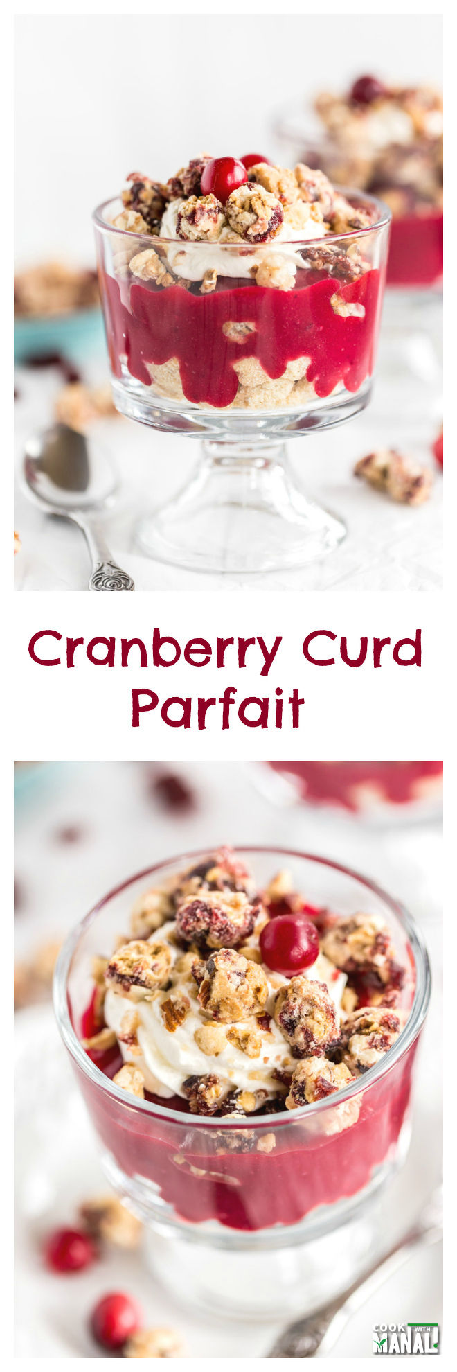 Cranberry Curd Parfait Collage
