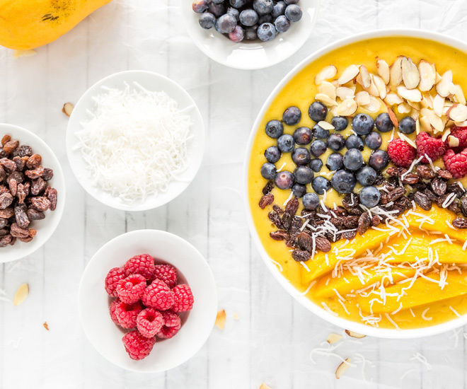 Mango Smoothie Bowl Toppings