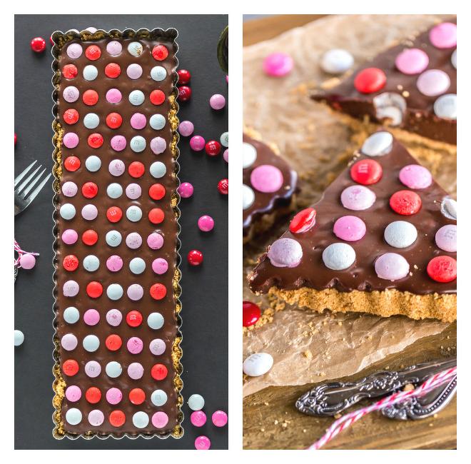 No-Bake-Chocolate -Tart-with-M&M