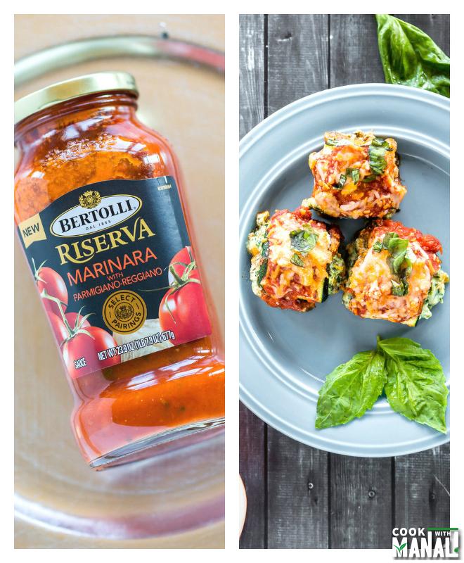 Spinach Zucchini Lasagna Rolls Collage