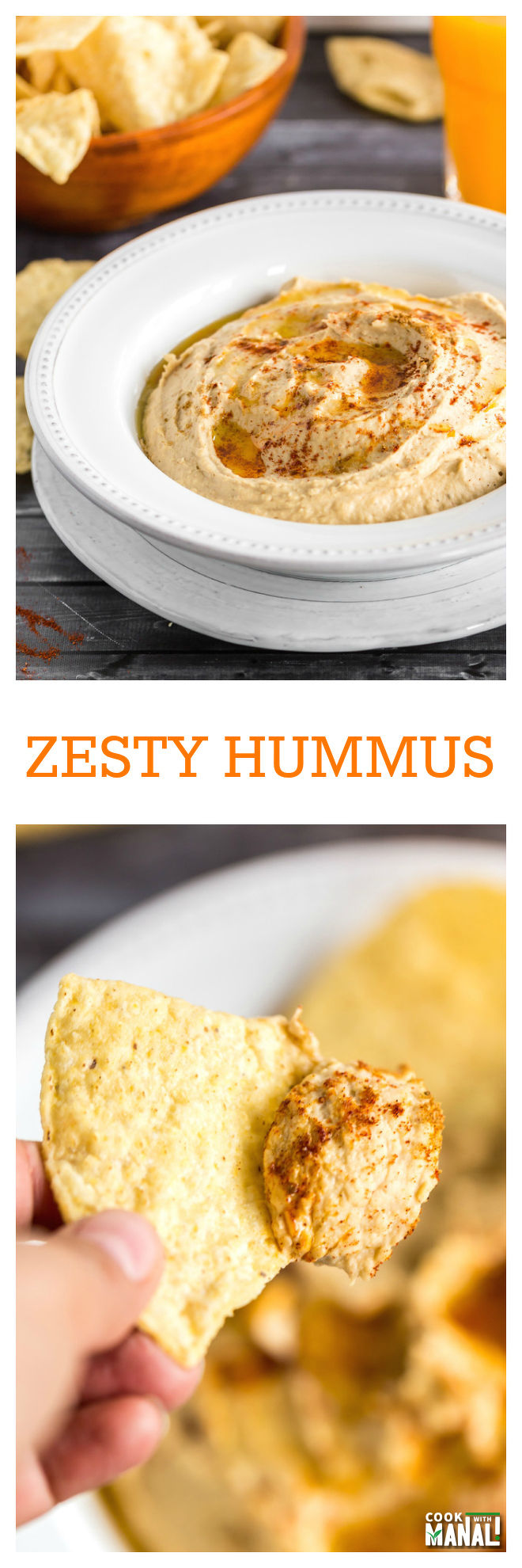 Zesty Hummus Collage