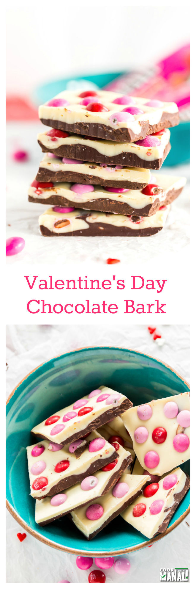 Easy Valentines Day Chocolate Bark Collage