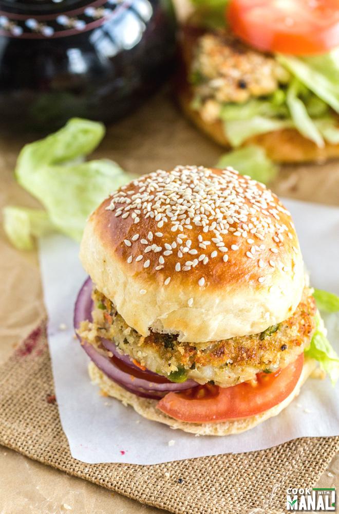 Homemade Burger Buns Burger