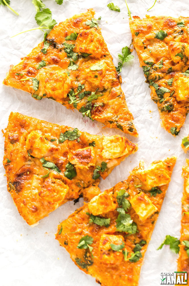 Indian Butter Paneer Pizza