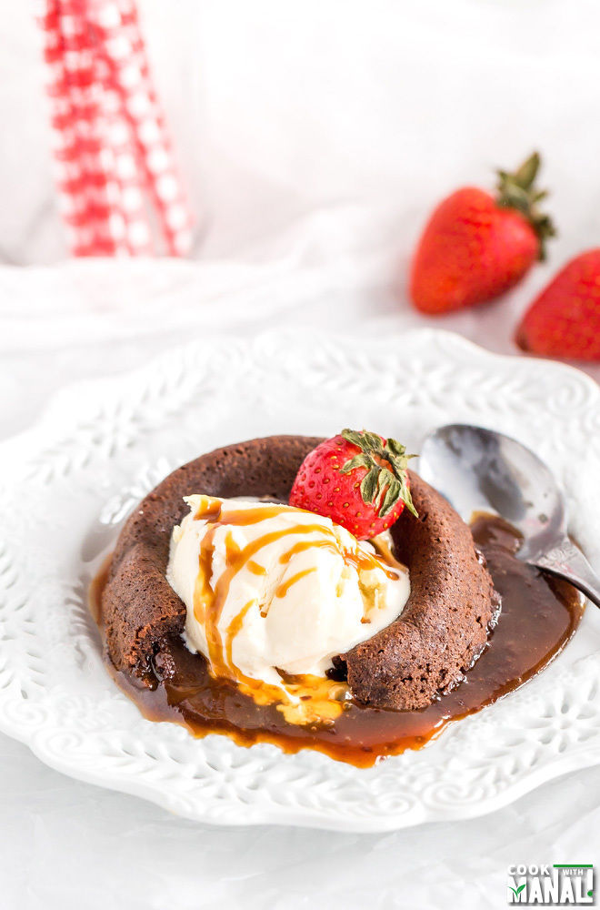 Salted Caramel Lava Cakes for 2