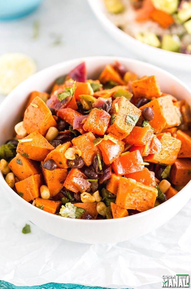 Vegan Sweet Potato Burrito Bowl