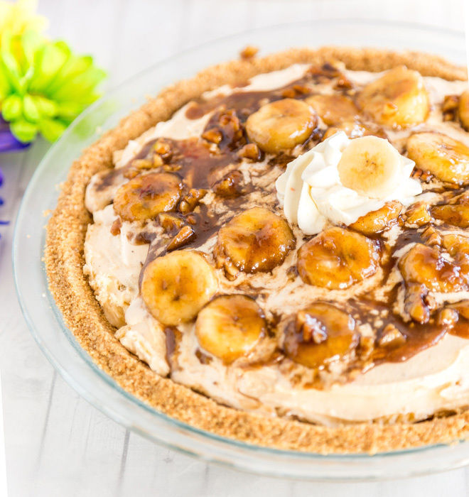 Banana Foster Ice Cream Pie Recipe