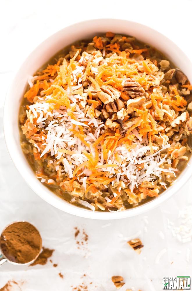 Carrot Cake Oatmeal Bowl