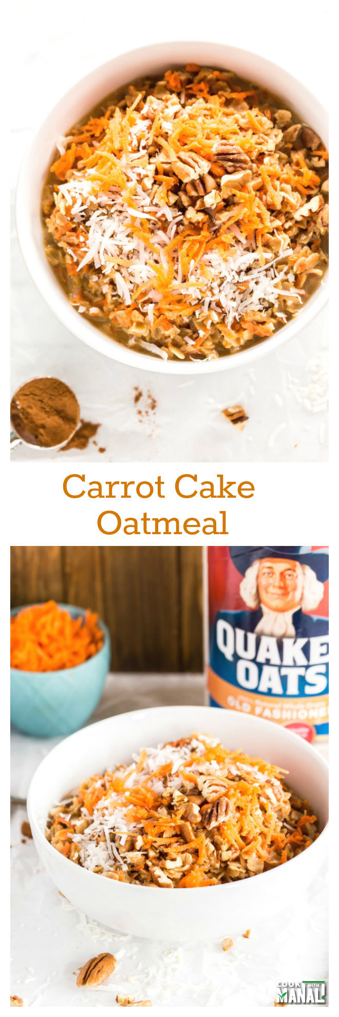 Carrot Cake Oatmeal Collage