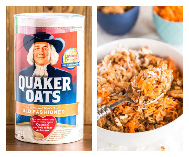 Carrot Cake Oatmeal with Quaker Oats