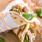 Chickpea Bean Pesto Pita Wraps