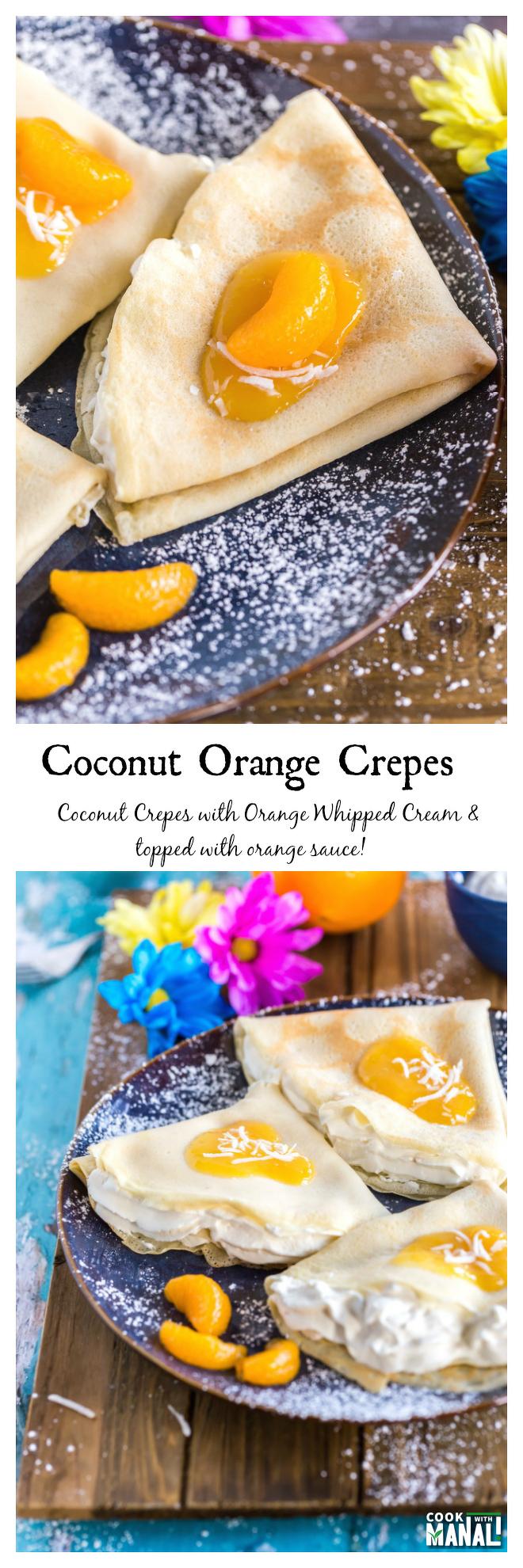 Coconut Orange Crepes-Collage