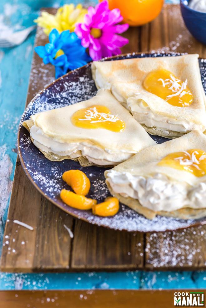 Coconut Orange Crepes