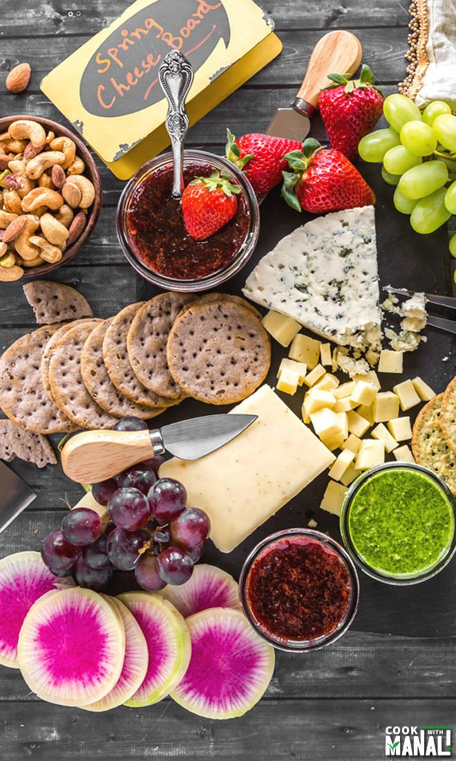 How to Make Spring Cheese Board