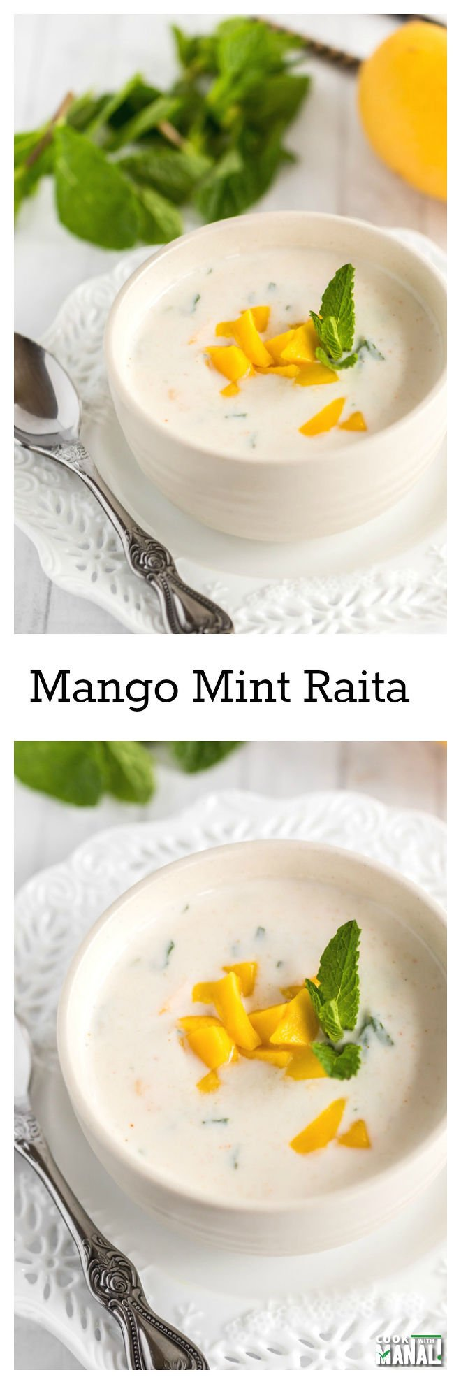 Mango Mint Raita Collage