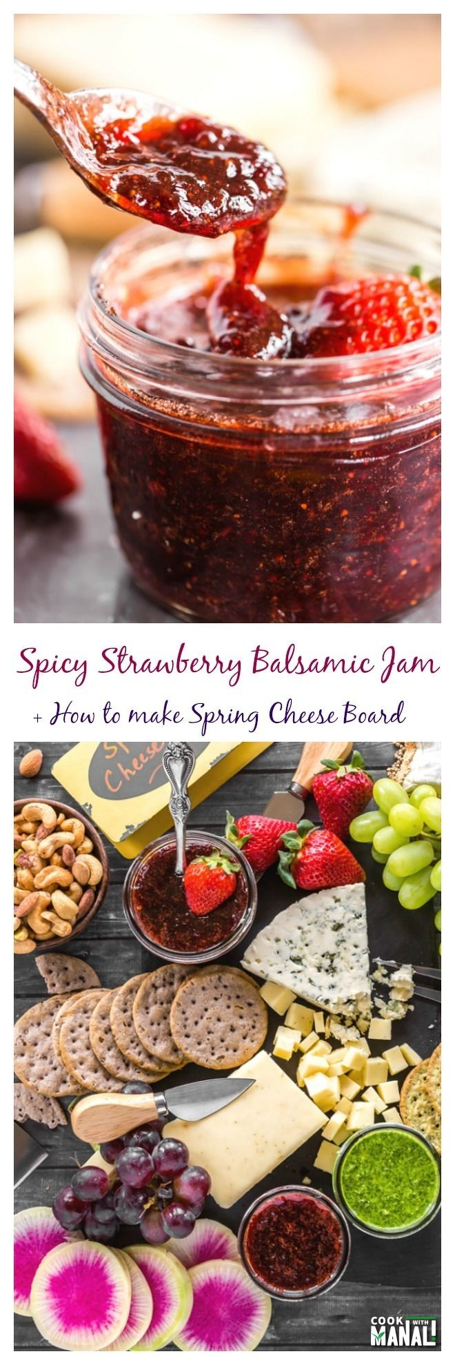 Spicy Satrwberry Balsamic Jam Collage