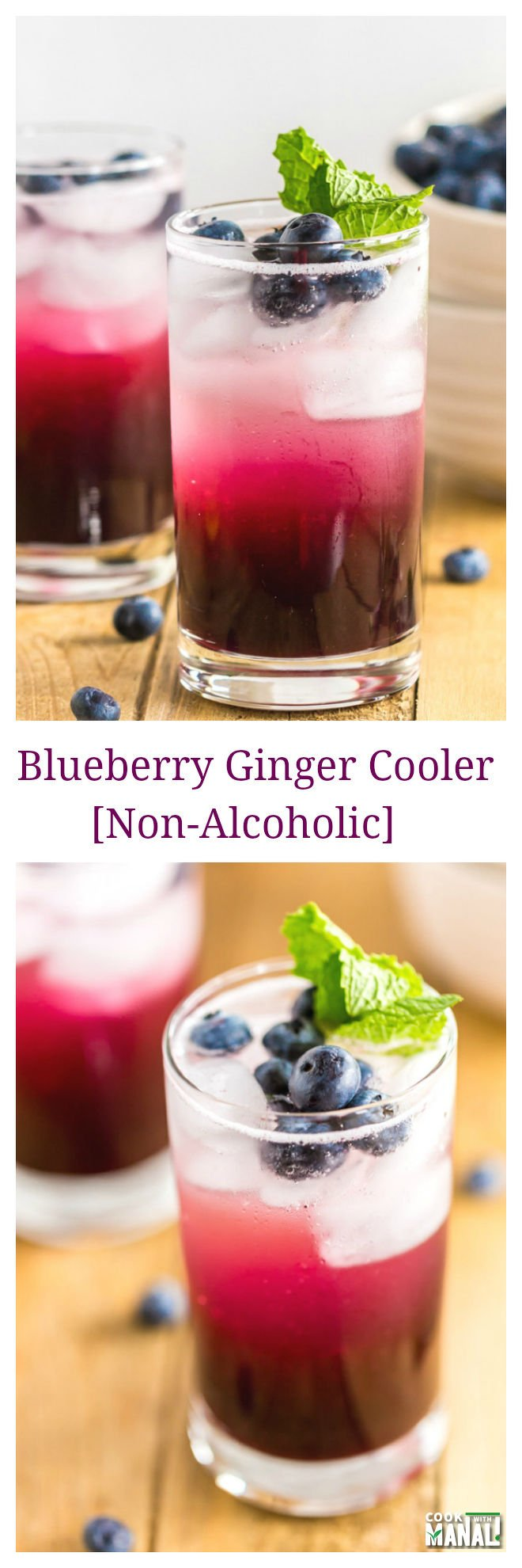 Blueberry Ginger Cooler Collage