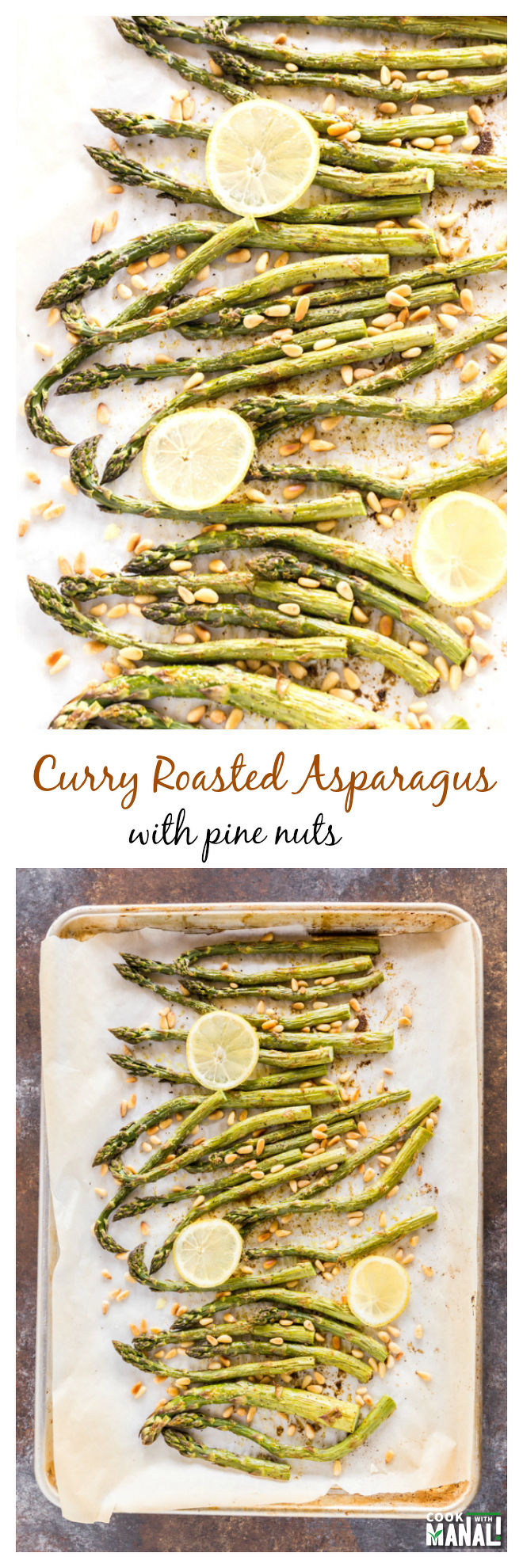 Curry Roasted Asparagus Collage