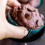 Eggless Chocolate Banana Muffins