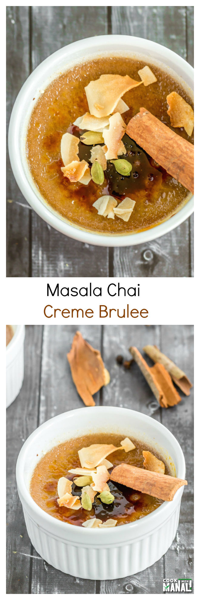 Masala Chai Creme Brulee-Collage