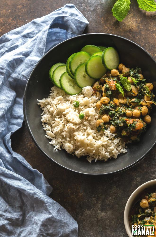 Chana Saag Recipe