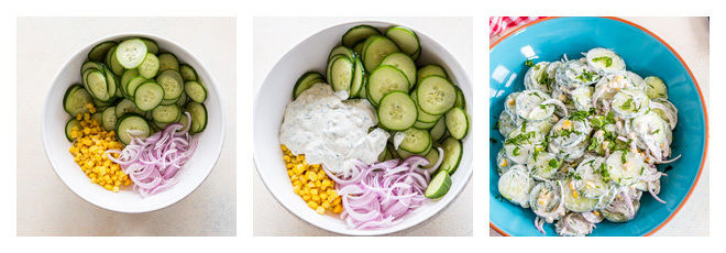 Creamy Cucumber Salad Recipe-Step