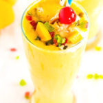 Mango Milkshake with Vanilla Ice Cream