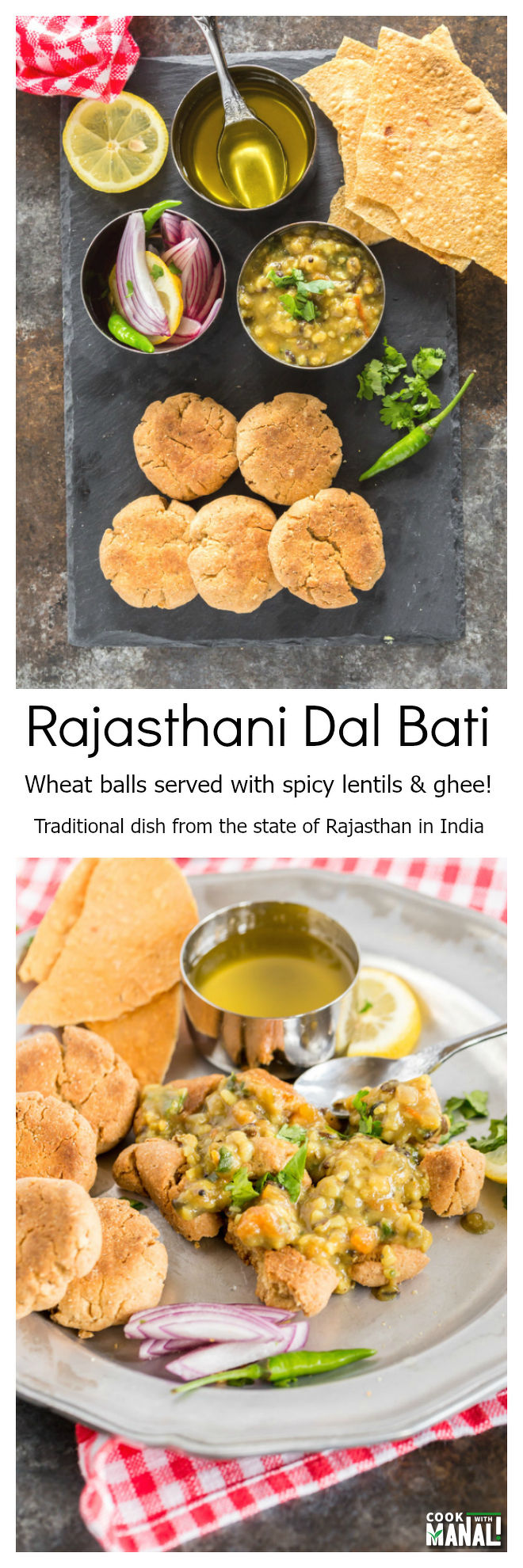 Rajasthani Dal Bati Collage