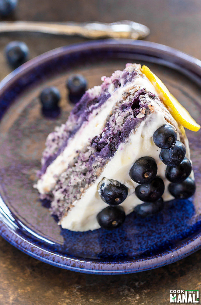 This blueberry lemon cake is really easy to make and tastes so ...