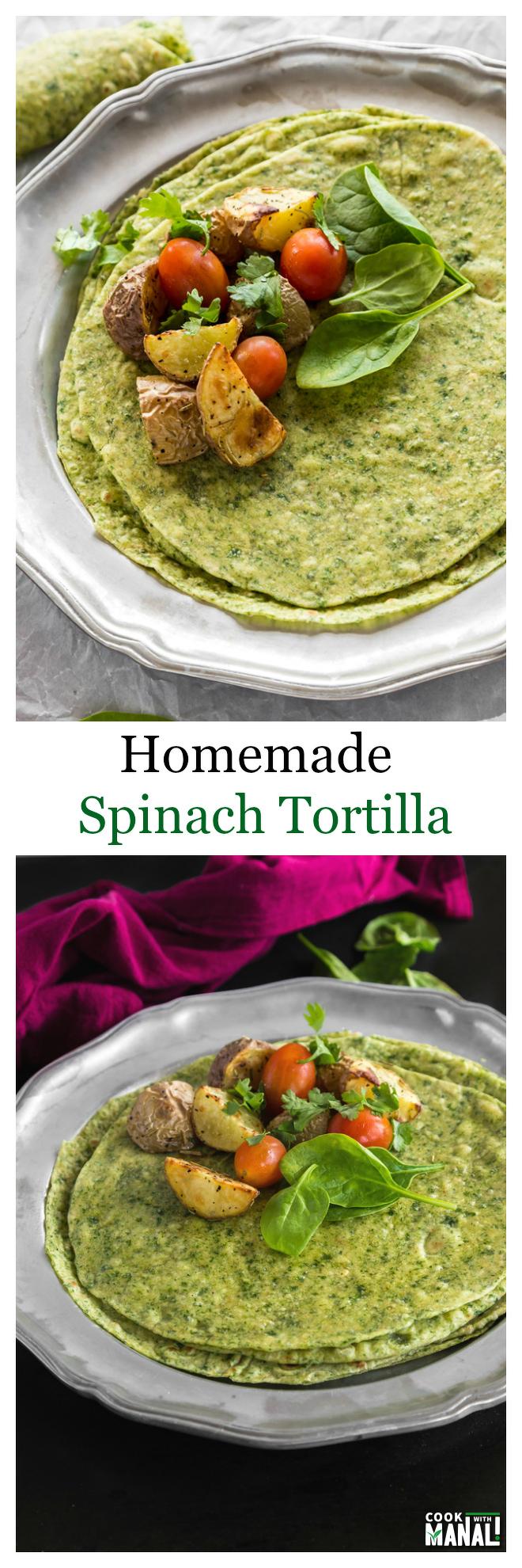 Spinach Tortilla-Collage
