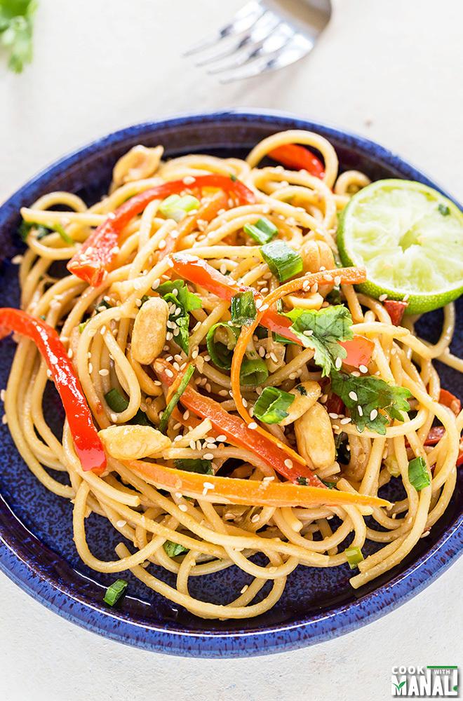 Vegetarian Thai Peanut Noodles