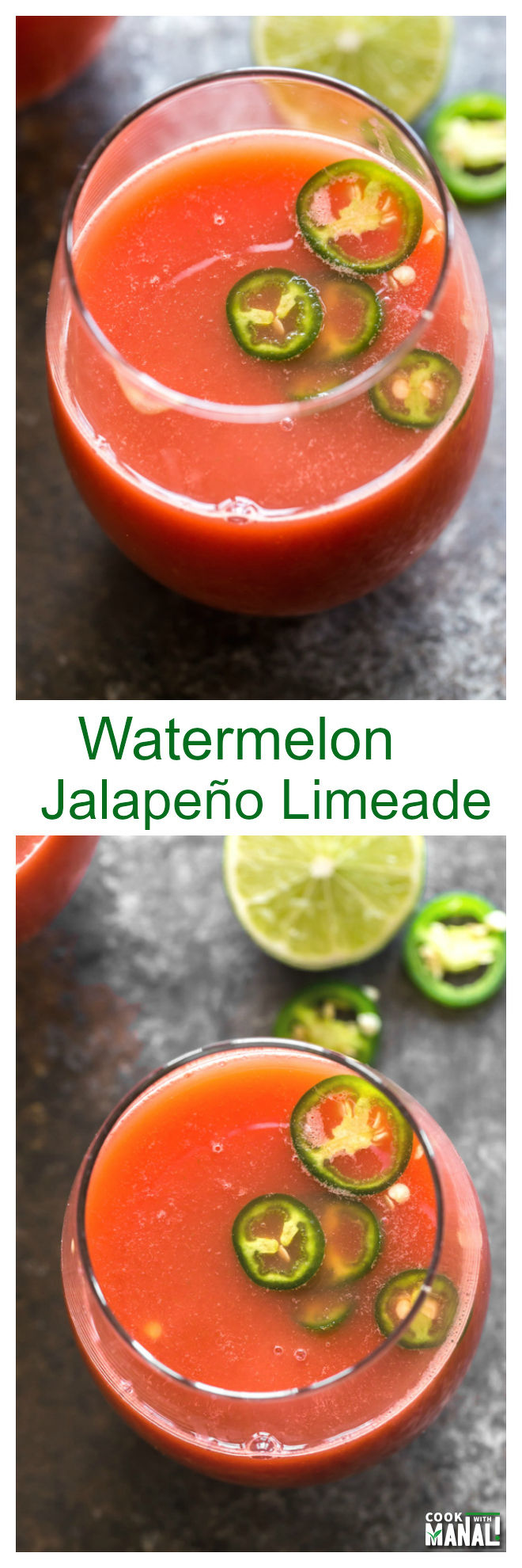 Watermelon Jalapeno Limeade Collage