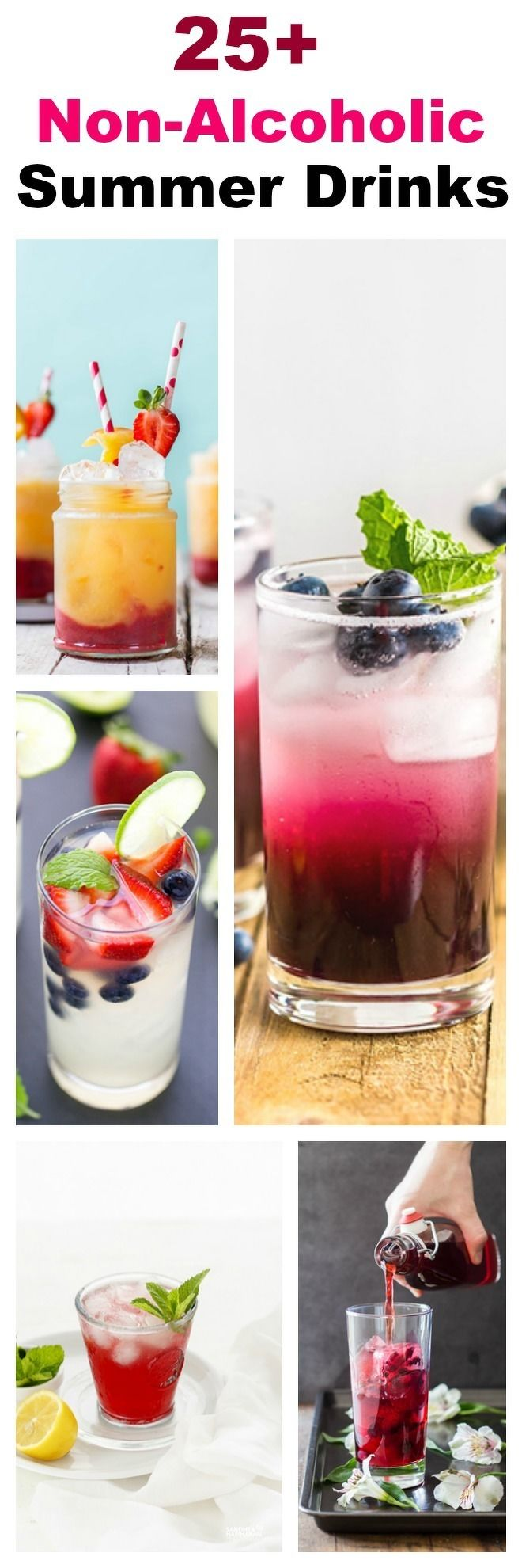 Non-Alcoholic Summer Drinks Collage-nocwm