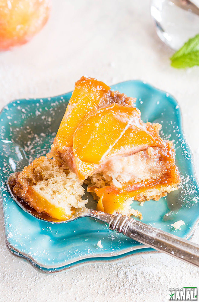 Peach Upside Down Cake Using Cake Mix And Fresh Peaches