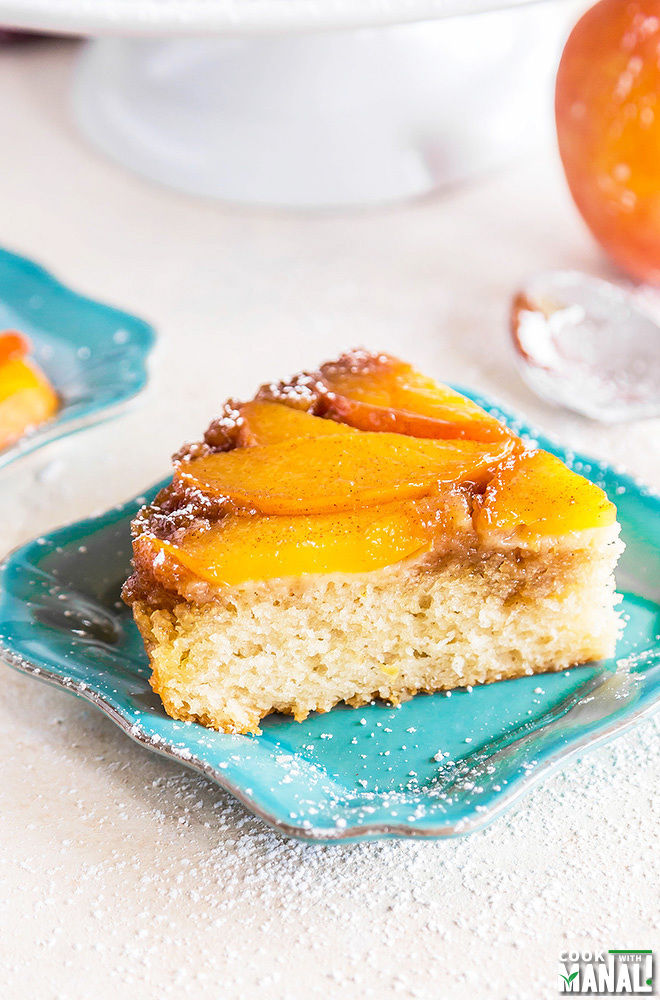 Summer Peach-Upside-Down-Cake