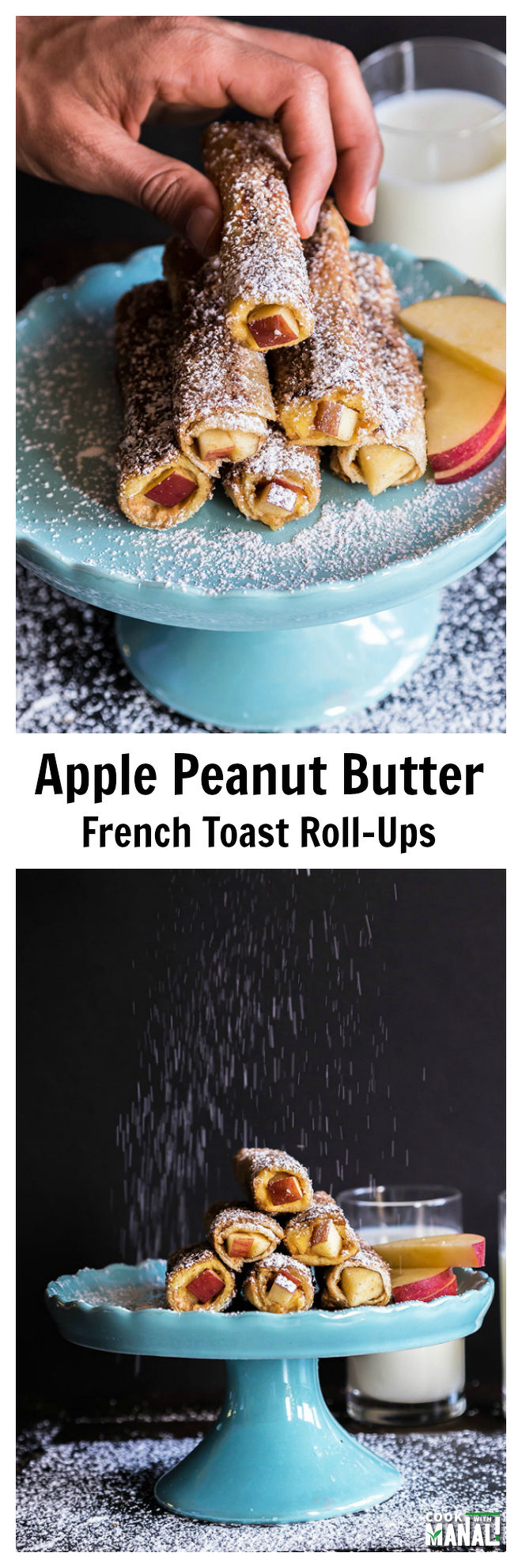 Apple Peaut Butter French Toast Roll Ups-Collage