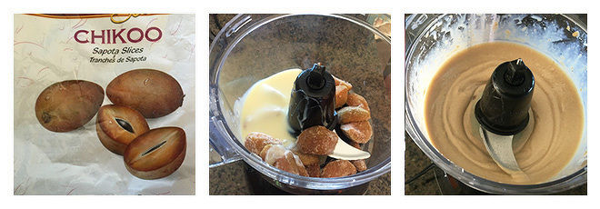 Chikoo Ice Cream-Recipe-Step-1